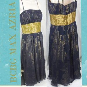 Bcbg Max Azria Gold Rose Dress Size 10